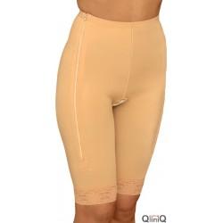 3002Z Liposuctie broek met rits tot boven de knie